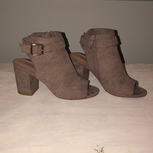 Bamboo open toe booties (with adjustable strap!!!)